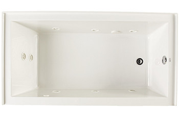"CLARKE Sparta W3260PSKR-01 Acrylic Skirted 60"" X 32"" Whirlpool Bath Tub- Right End Drain In White"