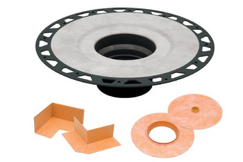 "Schluter KERDI-DRAIN - ABS - Flange Kit - 2"" Drain Outlet - KD2FLKABS (Grate Sold Separately)"