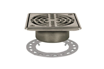 "Schluter KERDI-DRAIN - Grate Kit - 6"" Stainless Steel -  KD6GRKE - Flange Kit Sold Separately"
