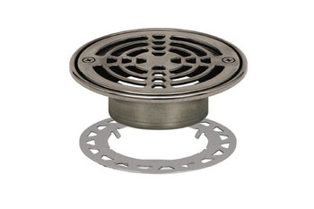 "Schluter KERDI-DRAIN - Grate Kit - 6"" Round Stainless Steel - KD6GRKRE - Flange Kit Sold Separately"