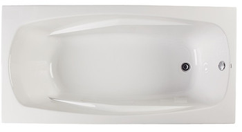 "CLARKE Alexandria T3672N-01 - 72"" X 36"" Acrylic Soaking Bath Tub In White"