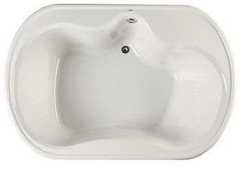 "CLARKE Alma T4872D-01 - 72"" X 48"" Acrylic Soaking Bath Tub In White"