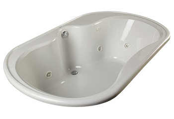 """CLARKE Alma A4872D-16  - 72"""" X 48"""" Acrylic Air Bath Tub In Biscuit (Picture shown in White)"""