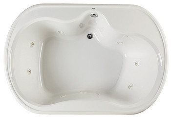 "CLARKE Alma A4872D-16  - 72"" X 48"" Acrylic Air Bath Tub In Biscuit (Picture shown in White)"