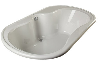 """CLARKE Alma T4872D-16 - 72"""" X 48"""" Acrylic Soaking Bath Tub In Biscuit (Picture shown in White)"""