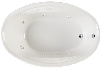 "CLARKE Concentra II W4070C-01 CMH - 70"" X 40"" Whirlpool Bathtub In White"