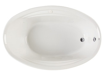 "CLARKE Concentra II T4070C-01 - 70"" X 40"" Soaking Bathtub In White"