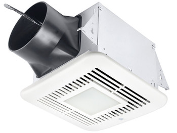 BreezElite ELT80-110MHLED Adj. High Speed 80/110 CFM, Dual speed fan/dimmable LED light w/Motion & Humidity sensors