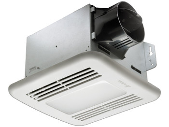 Delta BreezGreenBuilder GBR80HLED - 80 CFM Dual speed Fan/Dimmable LED Light with Humidity sensor
