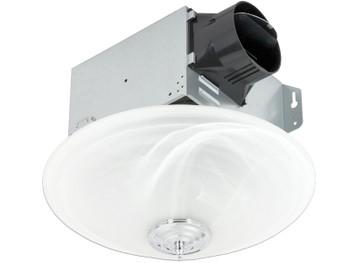 Delta BreezGreenBuilder GBR100LED-DÉCOR - 100 CFM Single speed Décor Fan/Dimmable LED Light