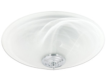 Delta BreezGreenBuilder GBR100LED-DÉCOR - 100 CFM Single speed Décor Fan/Dimmable LED Light
