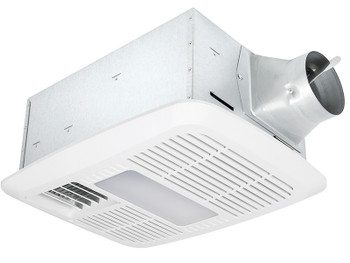 Delta BreezRadiance RAD110LED - 110 CFM Single speed Fan/Dimmable LED Light with PTC Heater