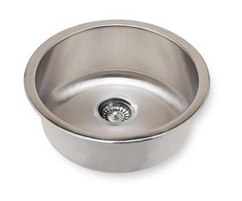 """Undermount 18"""" Round Stainless Steel Sink Sink, 18 Gauge SM465"""