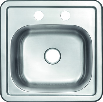 """Over mount 15"""" Stainless Steel Sink, SM1515"""
