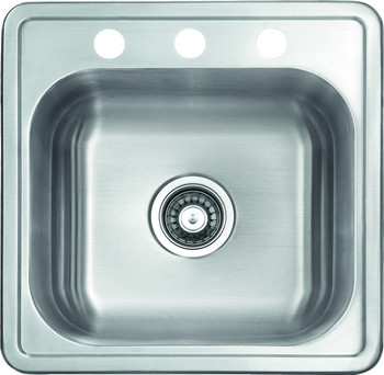 """Over mount 19"""" Stainless Steel Sink, SM1919"""