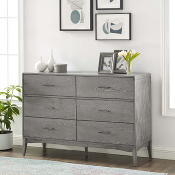 MODWAY Georgia Wood Dresser MOD-6242 Gray