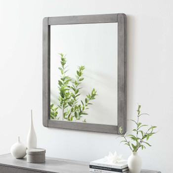 MODWAY Georgia Wood Mirror MOD-6243 Gray