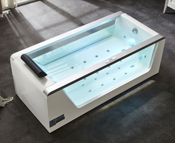 EAGO AM152ETL-5 5 ft Clear Rectangular Acrylic Whirlpool Bathtub