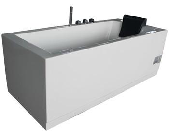 EAGO AM154ETL-L6 6 ft Acrylic White Rectangular Whirlpool Bathtub w Fixtures