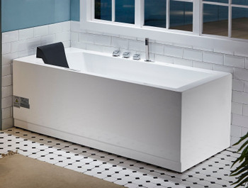 EAGO AM154ETL-R6 6 ft Acrylic White Rectangular Whirlpool Bathtub w Fixtures