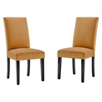 Parcel Performance Velvet Dining Side Chairs - Set of 2 EEI-3779-COG
