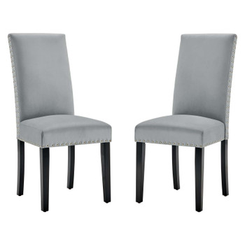 Parcel Performance Velvet Dining Side Chairs - Set of 2 EEI-3779-LGR