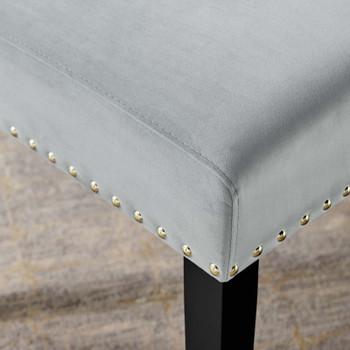 Parcel Performance Velvet Dining Side Chairs - Set of 2 EEI-3779-LGR