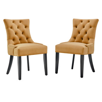 Regent Tufted Performance Velvet Dining Side Chairs - Set of 2 EEI-3780-COG
