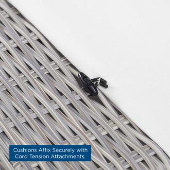 Conway Sunbrella® Outdoor Patio Wicker Rattan Ottoman EEI-3971-LGR-WHI