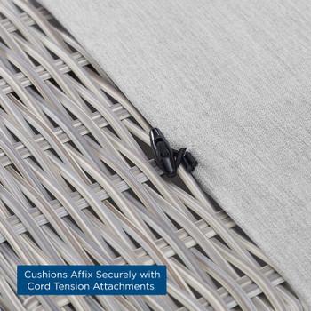 Conway Sunbrella® Outdoor Patio Wicker Rattan Armless Chair EEI-3980-LGR-GRY