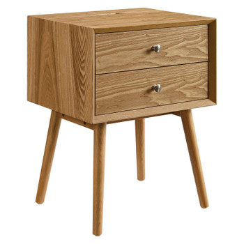 Ember Wood Nightstand With USB Ports EEI-4343-NAT-NAT