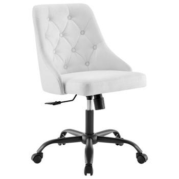 Distinct Tufted Swivel Upholstered Office Chair EEI-4369-BLK-WHI
