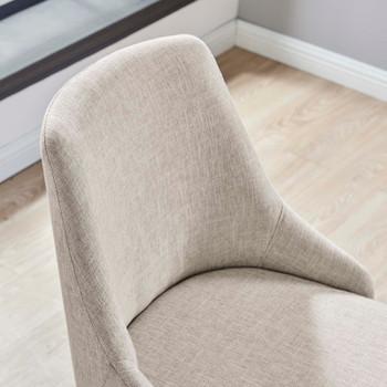 Designate Swivel Upholstered Office Chair EEI-4371-BLK-BEI