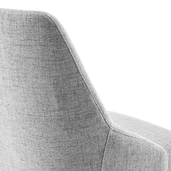 Designate Swivel Upholstered Office Chair EEI-4371-BLK-LGR