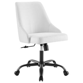 Designate Swivel Upholstered Office Chair EEI-4371-BLK-WHI