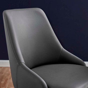 Designate Swivel Vegan Leather Office Chair EEI-4372-BLK-GRY