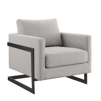 Posse Upholstered Fabric Accent Chair EEI-4391-BLK-CAM