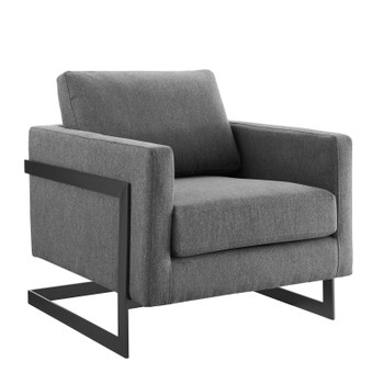 Posse Upholstered Fabric Accent Chair EEI-4391-BLK-CHA