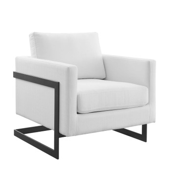 Posse Upholstered Fabric Accent Chair EEI-4391-BLK-WHI