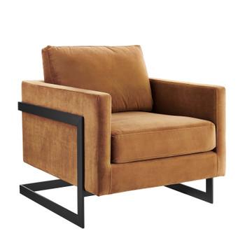 Posse Performance Velvet Accent Chair EEI-4457-BLK-COG