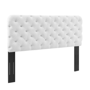 Lizzy Tufted Full/Queen Performance Velvet Headboard MOD-6031-WHI