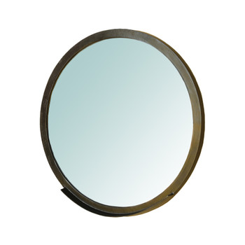 Ansel Mirror with Ledge, Bronze