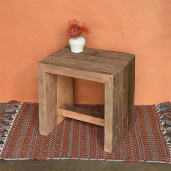 Arcadia Stool, Reclaimed Wood