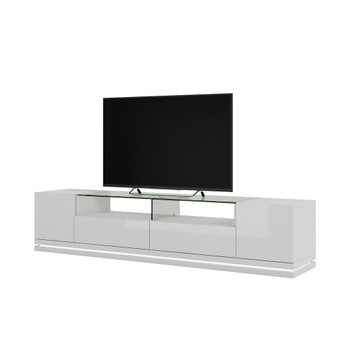 Vanderbilt TV Stand with LED Lights in White Gloss