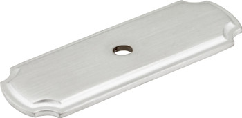 "Jeffrey Alexander 2-13/16"" Brushed Chrome Knob Backplate B812-BC"