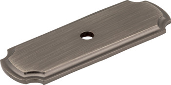 "Jeffrey Alexander 2-13/16"" Brushed Pewter Knob Backplate B812-BNBDL"