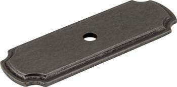 "Jeffrey Alexander 2-13/16"" Gun Metal Knob Backplate B812-DACM"