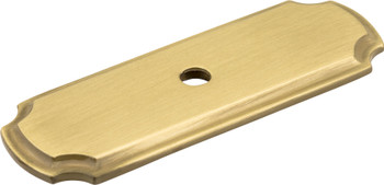 "Jeffrey Alexander 2-13/16"" Satin Brass Knob Backplate B812-SB"