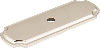 "Jeffrey Alexander 2-13/16"" Satin Nickel Knob Backplate B812-SN"