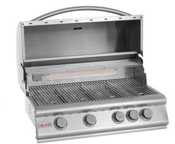 Blaze BLZ-4-NG 32-Inch 4-Burner Built-In Natural Gas Grill With Rear Infrared Burner